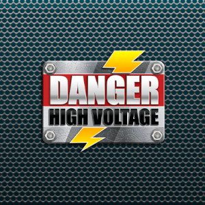 Danger High Voltage  logo review
