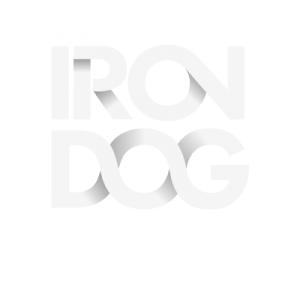 Iron Dog Studio side logo review