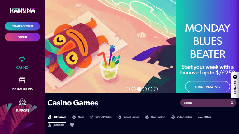 Kahuna Casino Screenshot 1