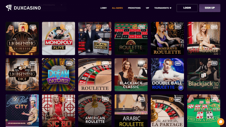 Dux Casino Screenshot 3
